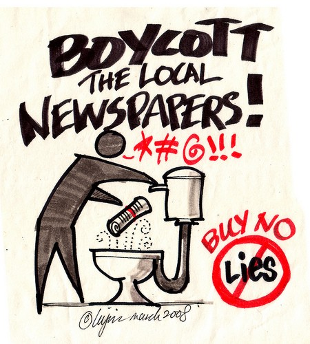 Let's Boycott Local Newspaper!