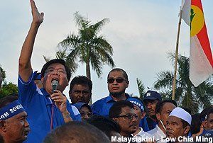 Teng together with umno & perkasa in Penang Rally 24th March 2013